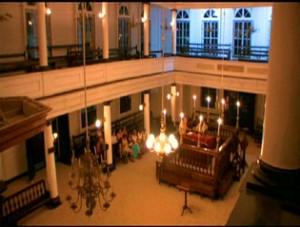 Interior de Sinagoga Askhenasi em Panamaribo