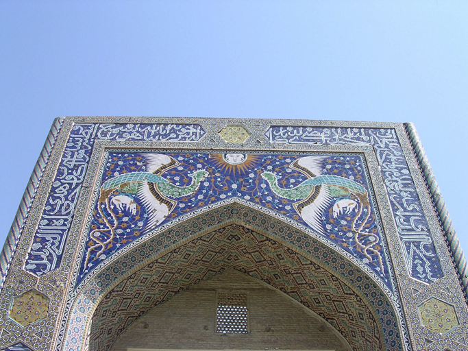 The legendary city of Samarkand in the Uzbekistan